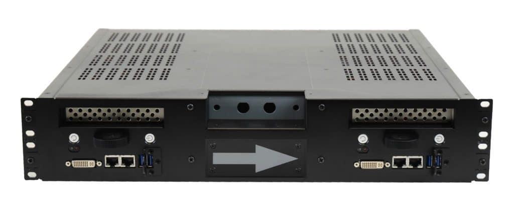 dual computer rackmount 2U