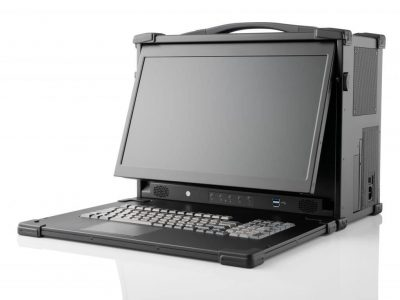 Ergonomic portable workstation with tiltable display