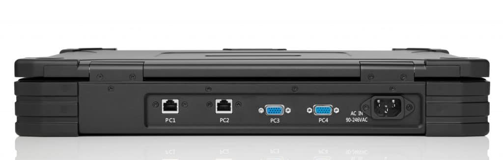 Rear ports on portable KVM - The PMK