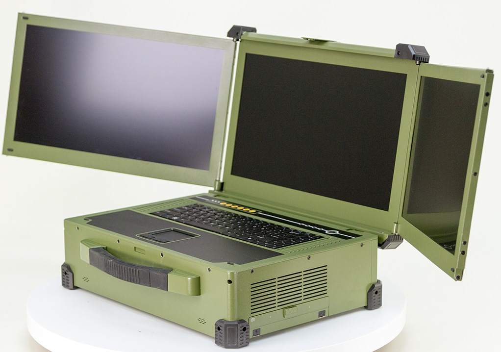 Three Screen Mil-DTL-901E laptop (rugged)