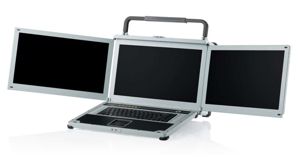 NotePAC-III-PRO-V triple screen - 2 slot - Xeon powered portable. Now with battery option.